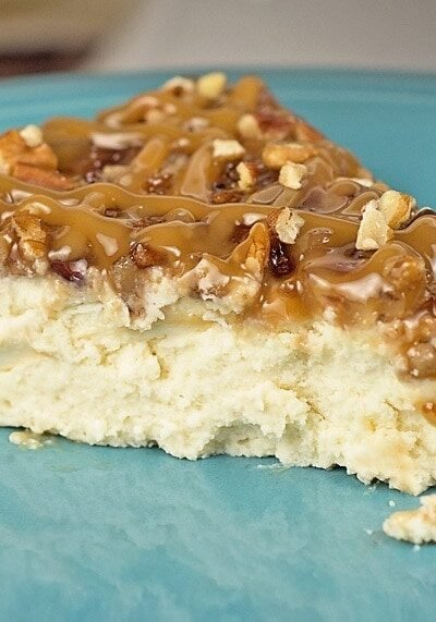 This Low-Carb / Sugar-Free Pecan Praline Cheesecake tastes sinfully delicious, and is perfect for the low carb/keto/sugar-free dieters out there! Even better, the cheesecake is super simple to make in the pressure cooker! Pressure Cooker Cheesecake