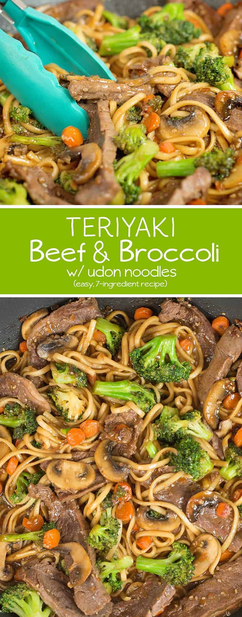 This Teriyaki Beef and Broccoli w/ Udon Noodles is so easy to make and perfect for busy nights!