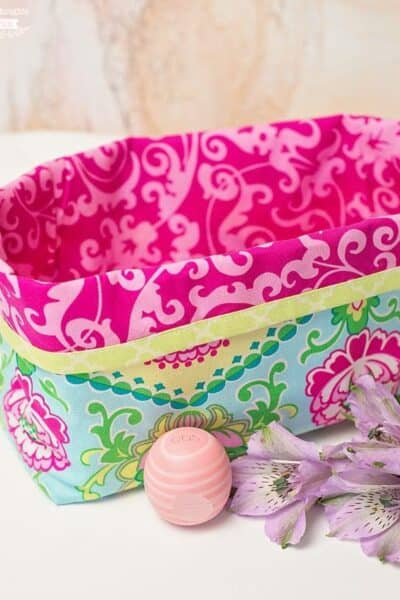 How to make a DIY Fabric Gift Basket (perfect for Mother's Day!)