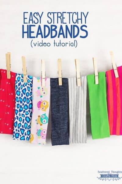 How to Make a Stretchy Headband (+ video tutorial)