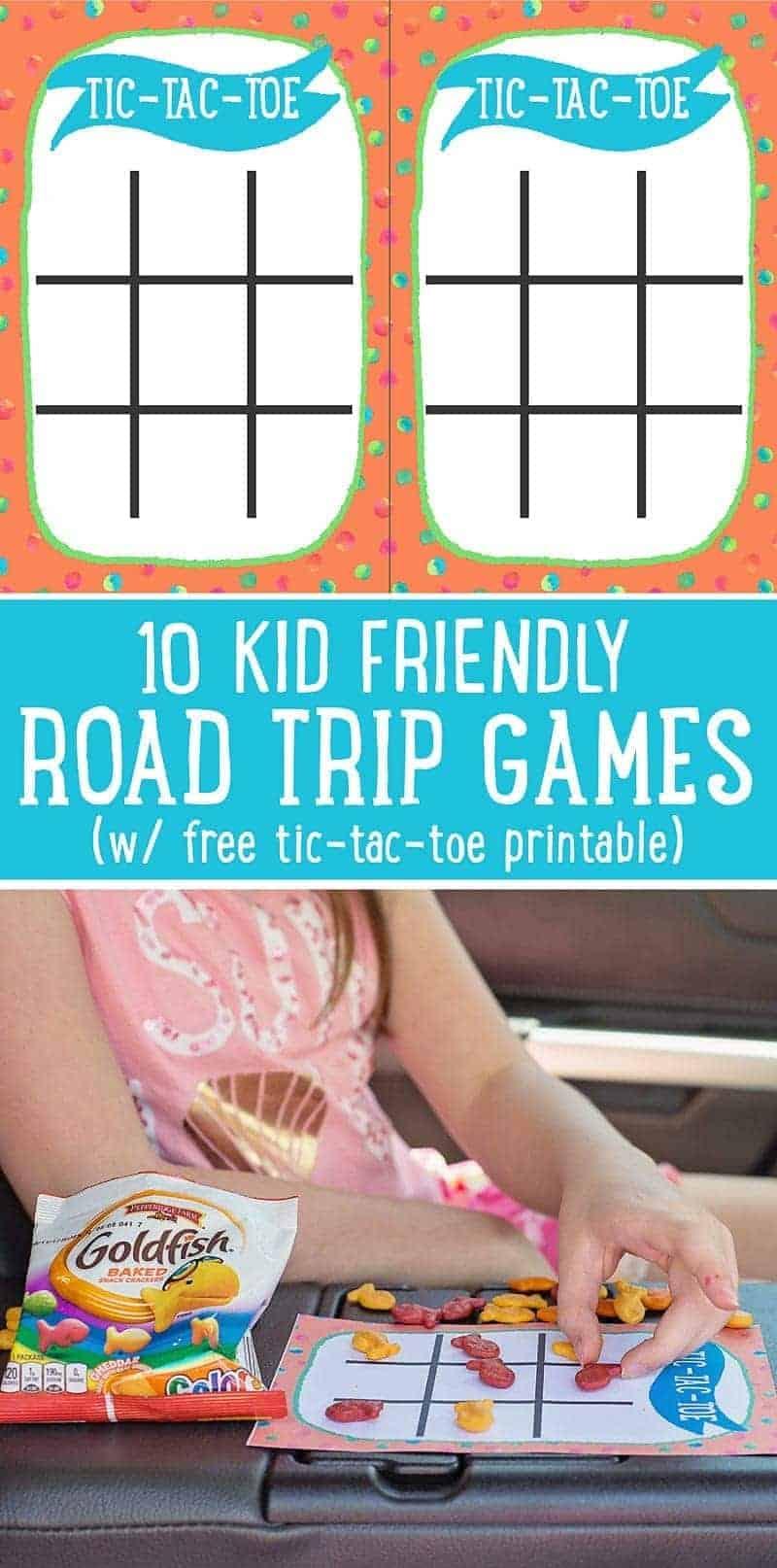 Tic Tac Toe Road Trip Game Printable (+ 9 more road trip game ideas)