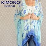 Learn how to sew a Kimono top with this easy sewing tutorial!