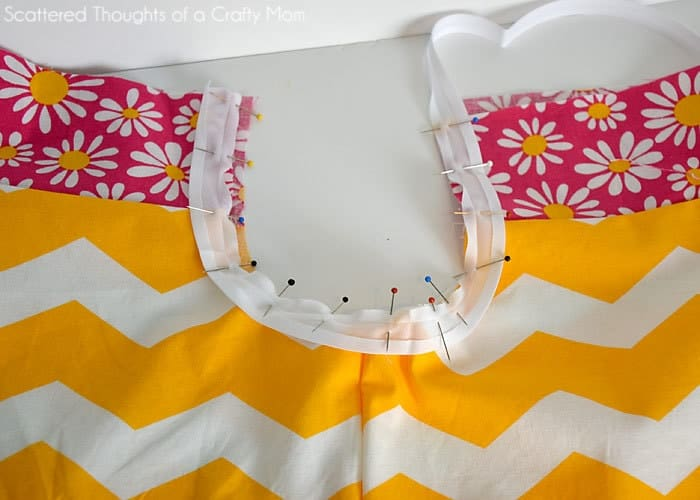 how to use single fold bias tape on a pillowcase dress