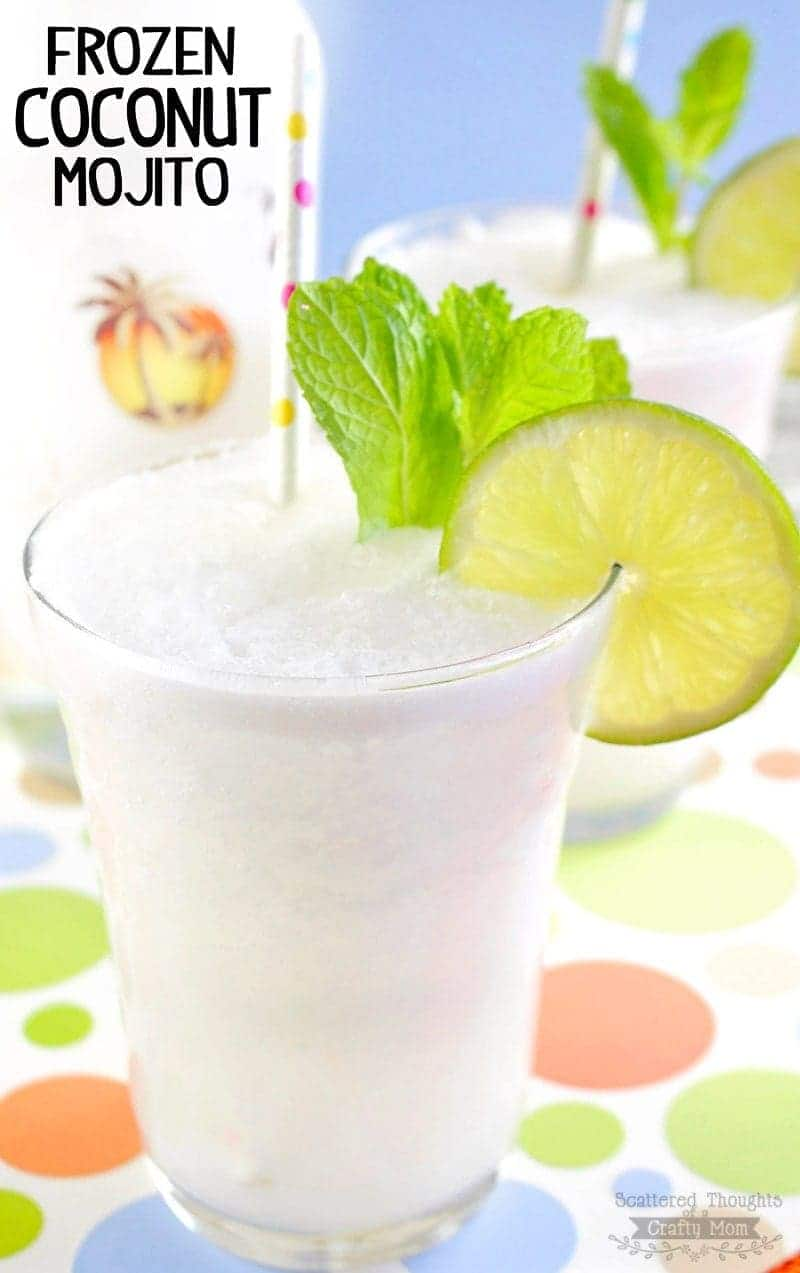 You don't want to miss this Frozen Coconut Mojito!  The delicious flavors of lime and coconut come together in this ultimate summer frozen cocktail.