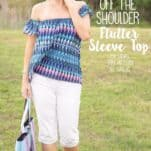 Off The Shoulder Top Sewing Pattern for Women. This free pdf pattern come in sizes Small through Extra Large.