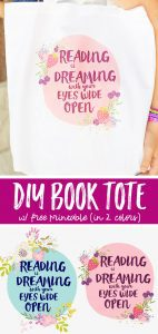 Make this Easy DIY Customized Book Bad with the included free Printable