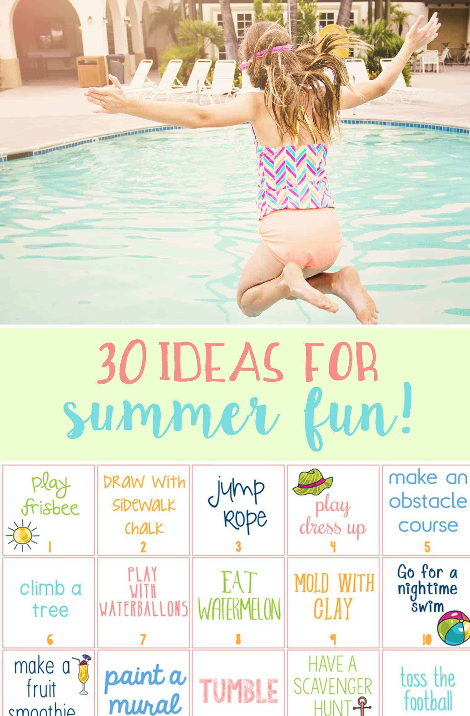 Easy Ideas for 30 Days of Summer Fun with the kids