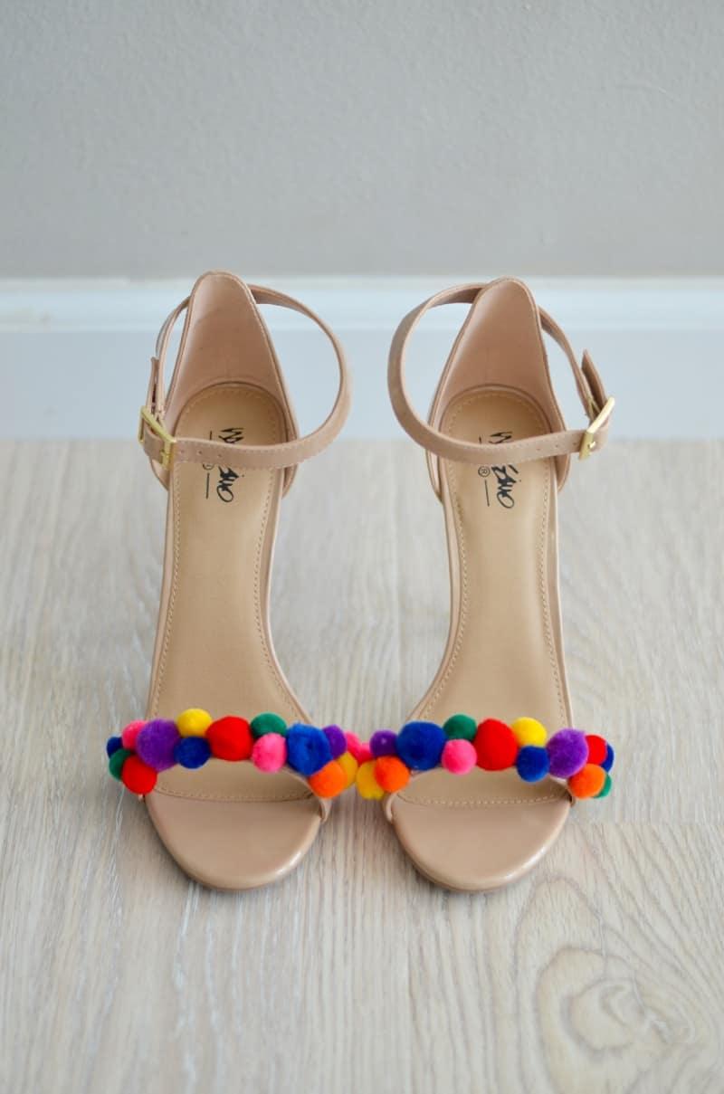 Pom Pom High Heels