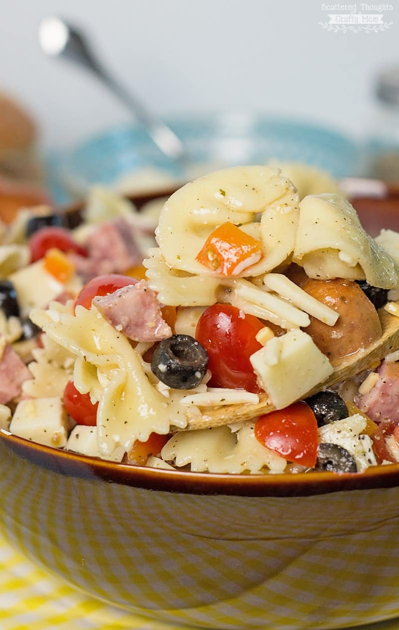 Sausage and Tortellini Pasta Salad