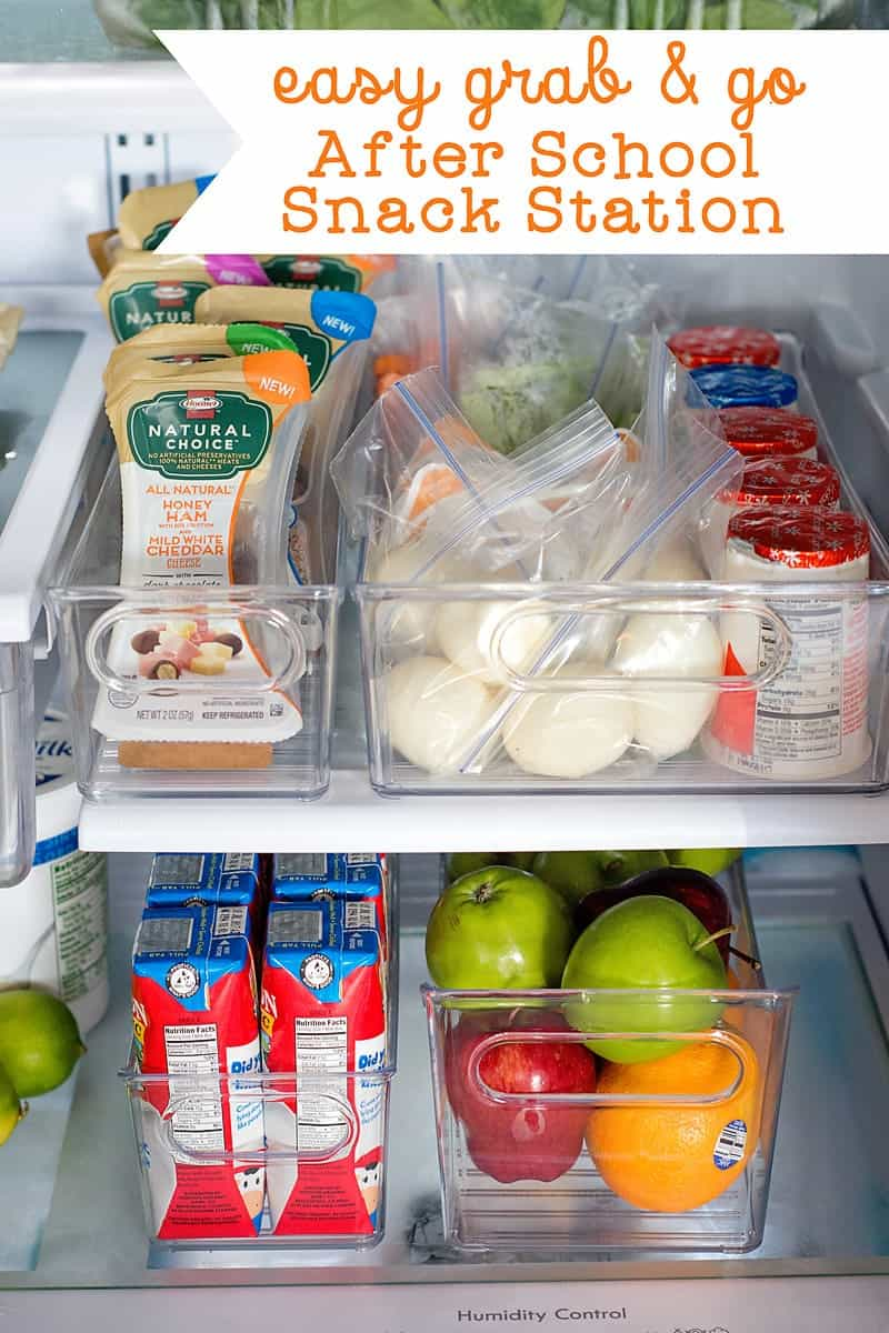 Easy after school snack ideas: How to Make a Grab and Go After School Snack Station
