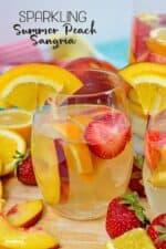 Sparkling Summer Peach Sangria Recipe