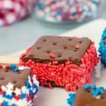 Easy Red, White and Blue Ice Cream Sandwiches