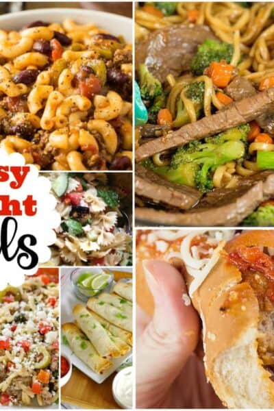 Busy Weeknight Meals + Inspiration Monday