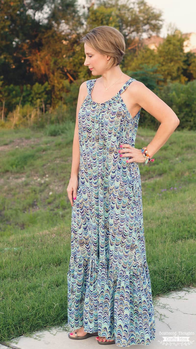 Easy Breezy Summer Lounge Dress (how to sew a maxi dress - free sewing pattern for women)