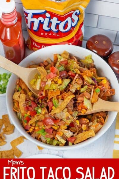 Mom's Frito Taco Salad with Catalina Dressing