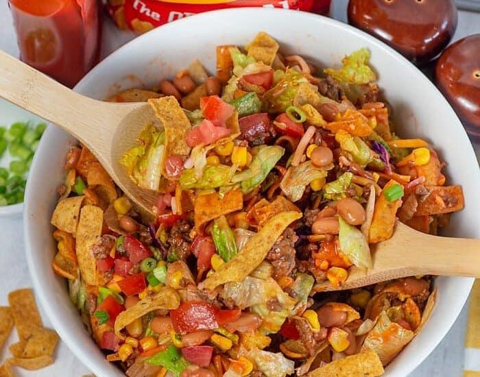 Mom's Frito Taco Salad with Catalina Dressing