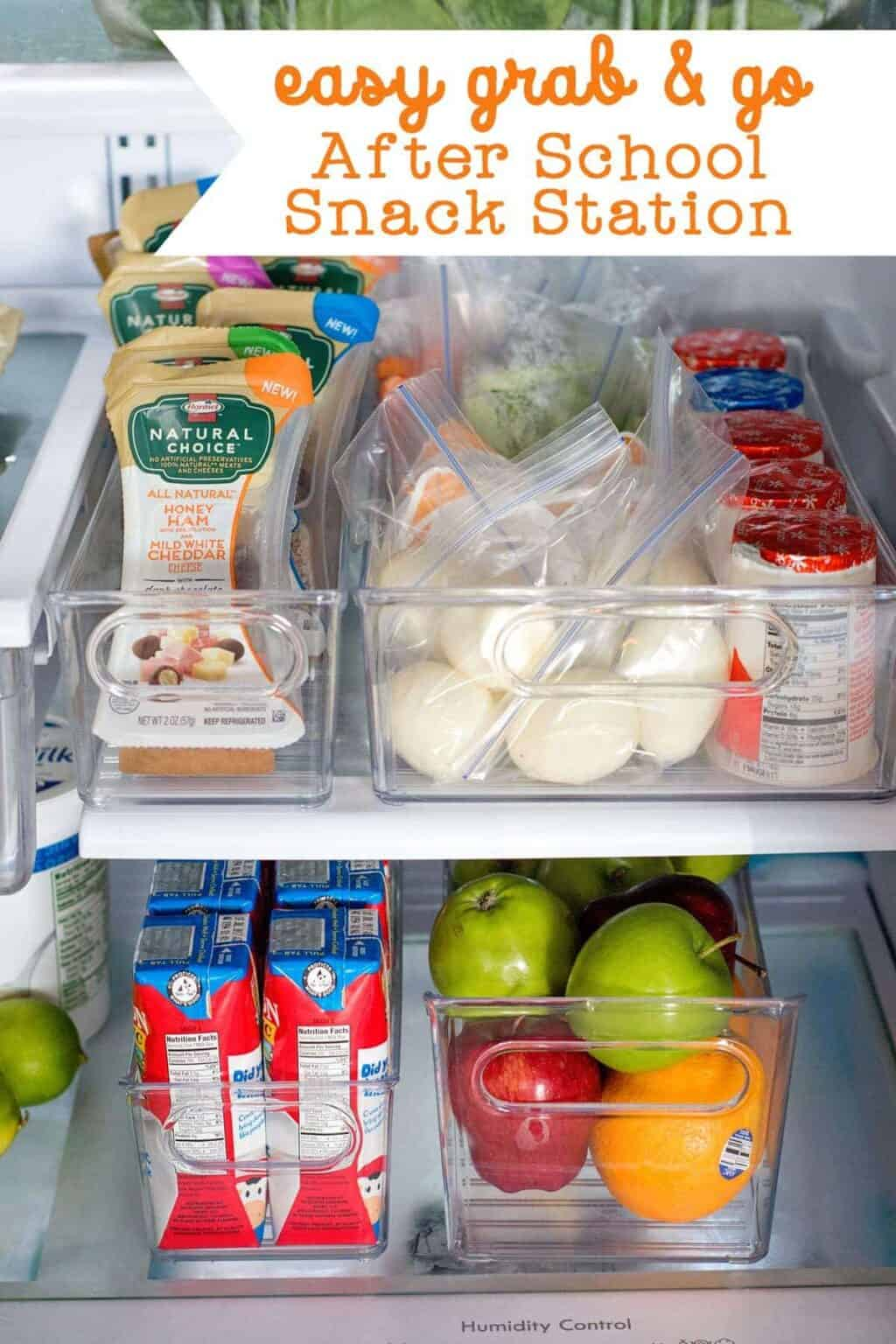 How to Make a Grab and Go After School Snack Station