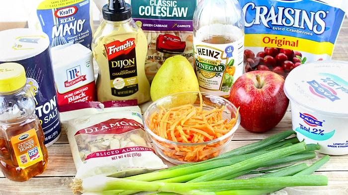 apple cranberry coleslaw ingredients