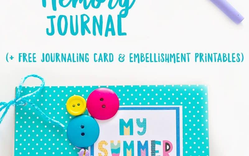 DIY Summer Memory Journal (free printable journal cards & embellishments )