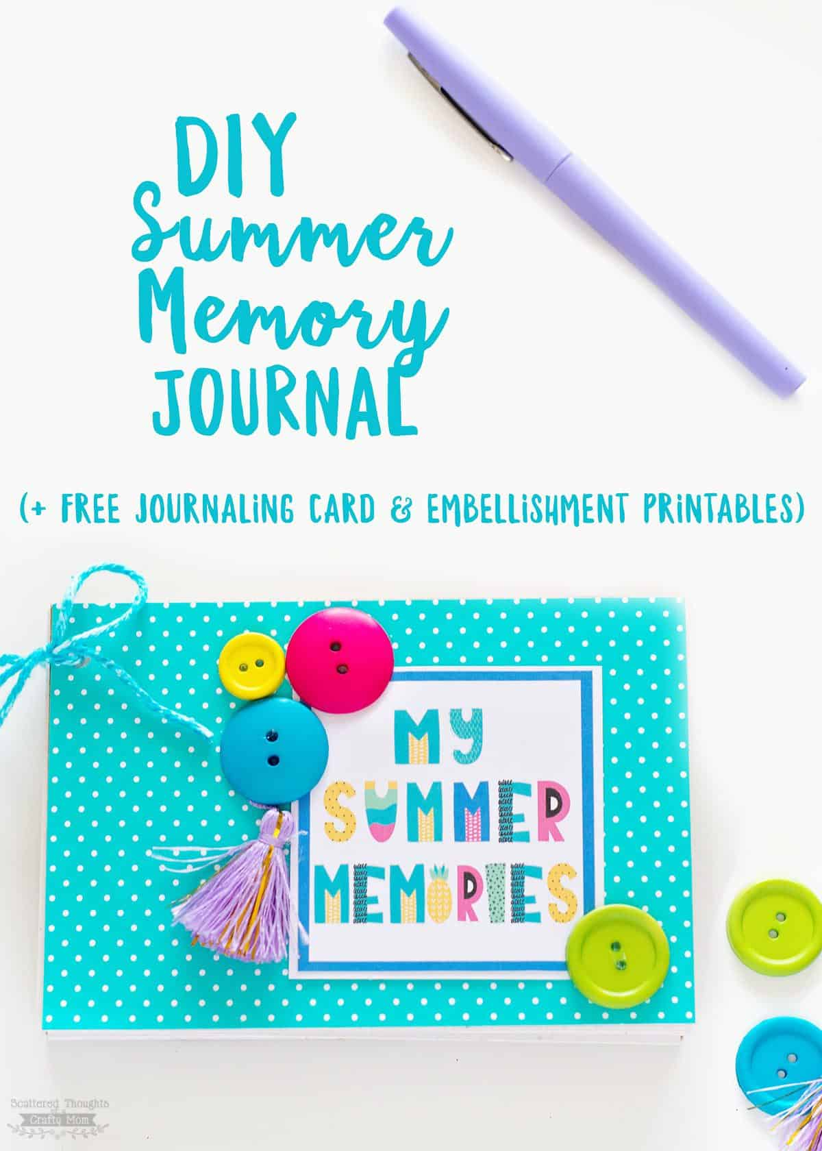 picture regarding Free Printable Journaling Cards named Do it yourself Summertime Memory Magazine (free of charge printable magazine playing cards
