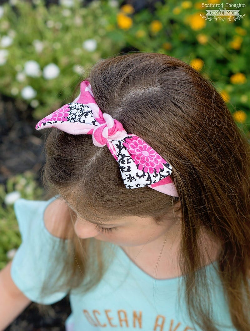 Want to learn how to sew a headband?  This super simple DIY Headband Tutorial is about the easiest headband to you can make.