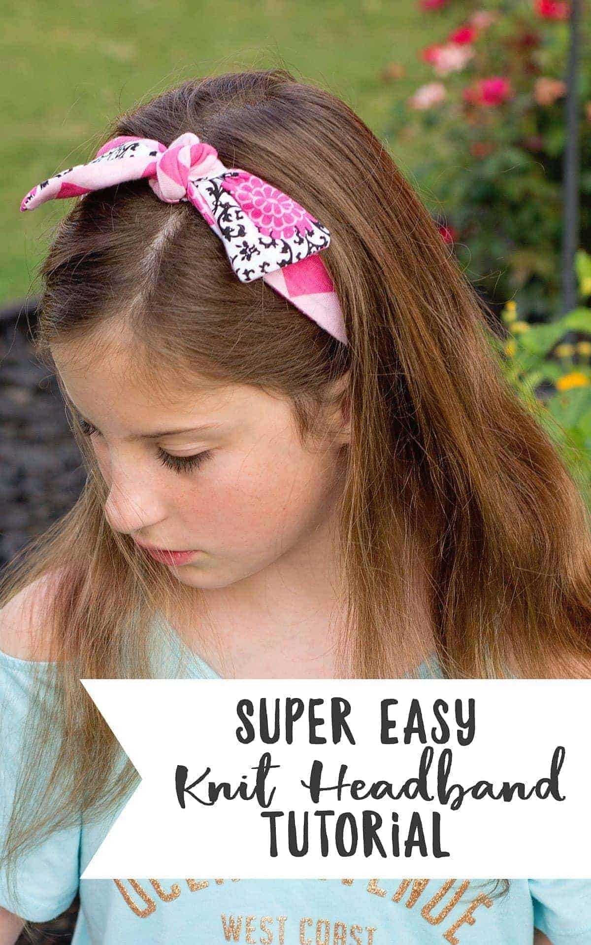 Want to learn how to sew a headband? This super simple DIY Headband Tutorial is about the easiest headband to you can make!
