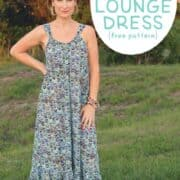 Easy Breezy Summer Lounge Dress (free sewing pattern for women)