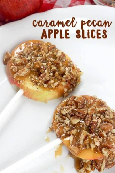 Easy Caramel Pecan Apple Slices