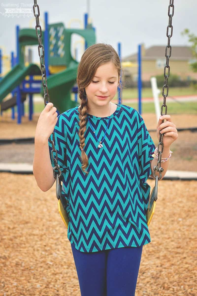 Free Circle Top Sewing Pattern for girls (sz 3 to 12)