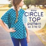 Learn how to make a circle top with this free Circle Top Pattern for girls (sz 3 to 12)