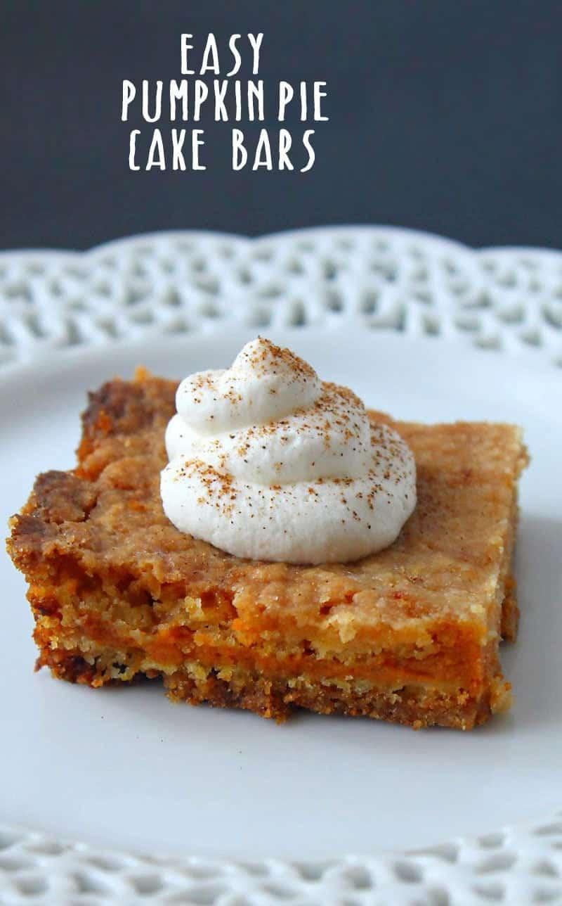 Easy Pumpkin Pie Cake Bars Recipe (easy pumpkin pie bars)