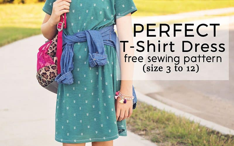 Perfect T-Shirt Dress Pattern and Tutorial (free pdf sewing pattern sz 3 to 12)