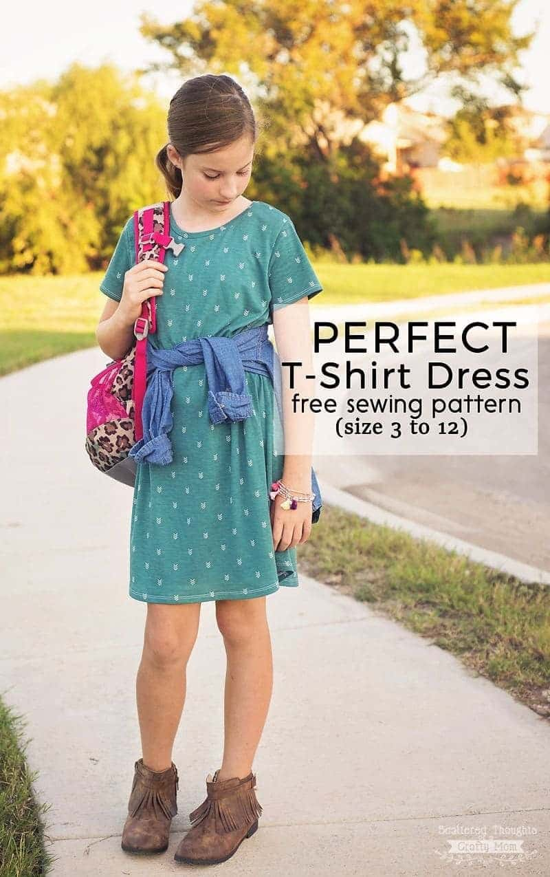 Perfect T-Shirt Dress Pattern and Tutorial (free pdf sewing pattern ...