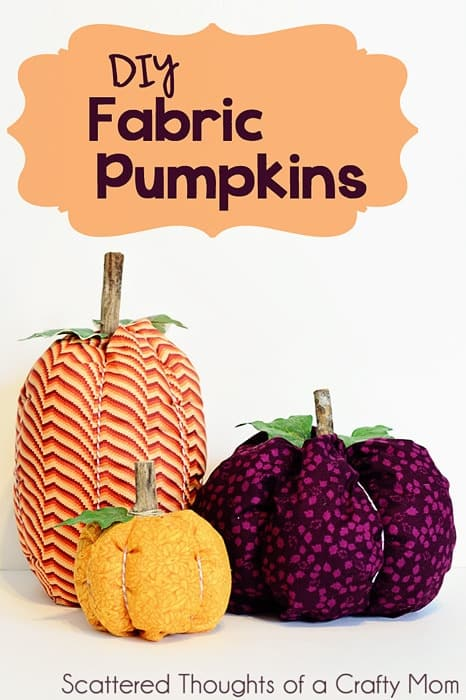 Spruce up your Fall Table with this quick and easy tutorial on How to Make Fabric Pumpkins. #fabricpumpkins