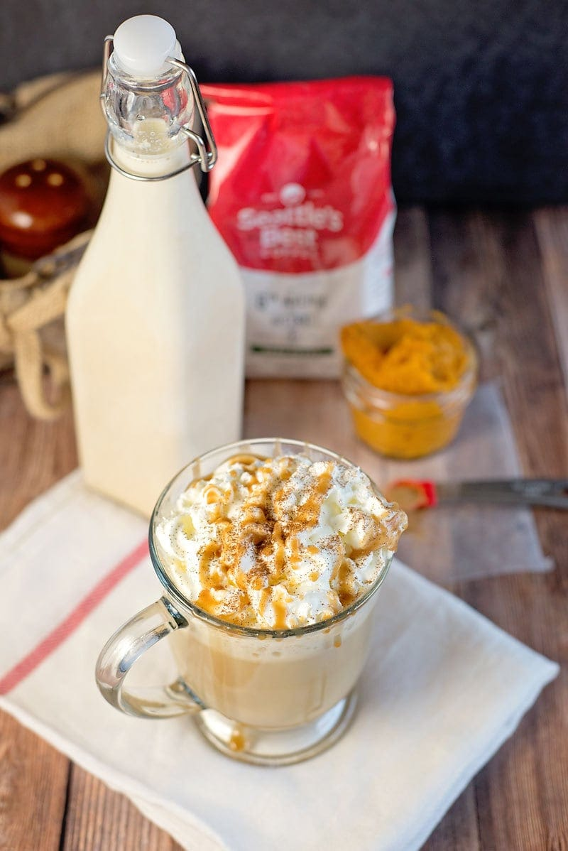 Homemade Pumpkin Spice Latte Recipe - Made with milk, pumpkin, sugar and spices and tastes as good as any store-bought version!