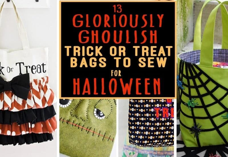 Trick or Treat Bags to Sew for Halloween