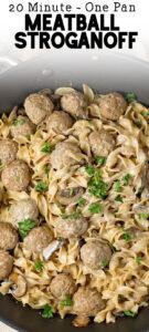 one pot meatball stroganoff