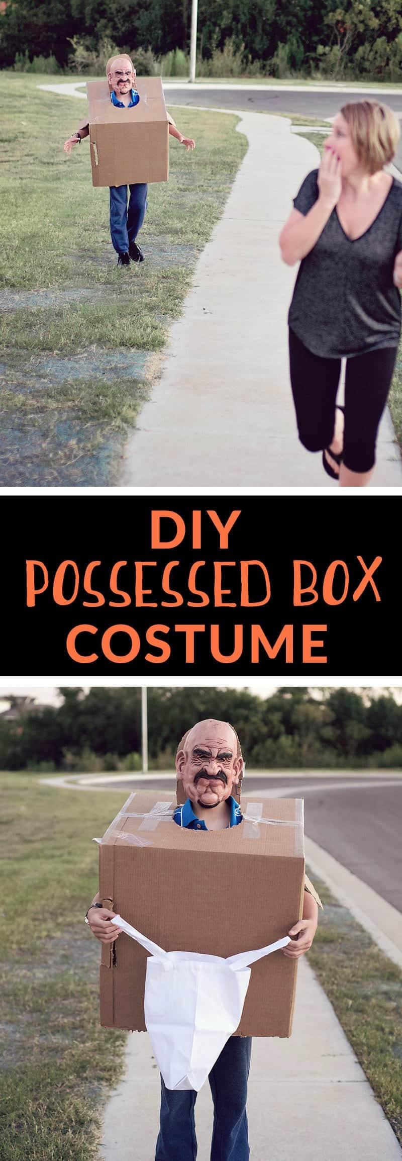 DIY Possessed Box Costume (last minute costume ideas)