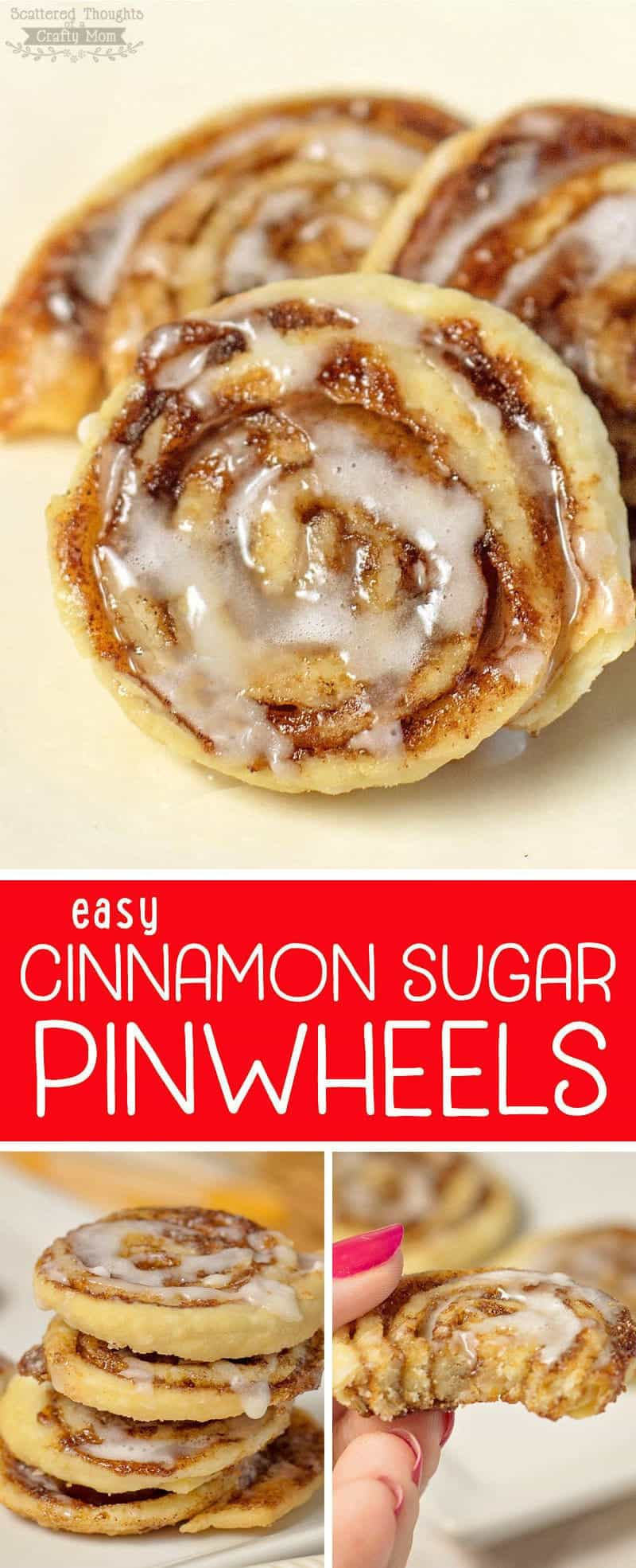 Cinnamon Sugar Pinwheel cookies - The perfect recipe to use up leftover pie crust!