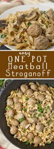 Easy One Pot Meatball Stroganoff (20 Minute Meal)