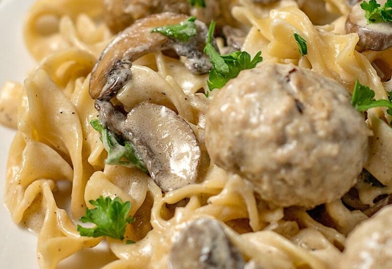One Pot Meatball Stroganoff (20 minute meal)