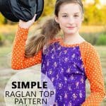 Basic Raglan Shirt Pattern sz 2 to 14