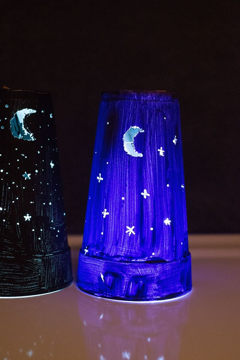 Kid Craft Easy Diy Nightlights From A Foam Cup