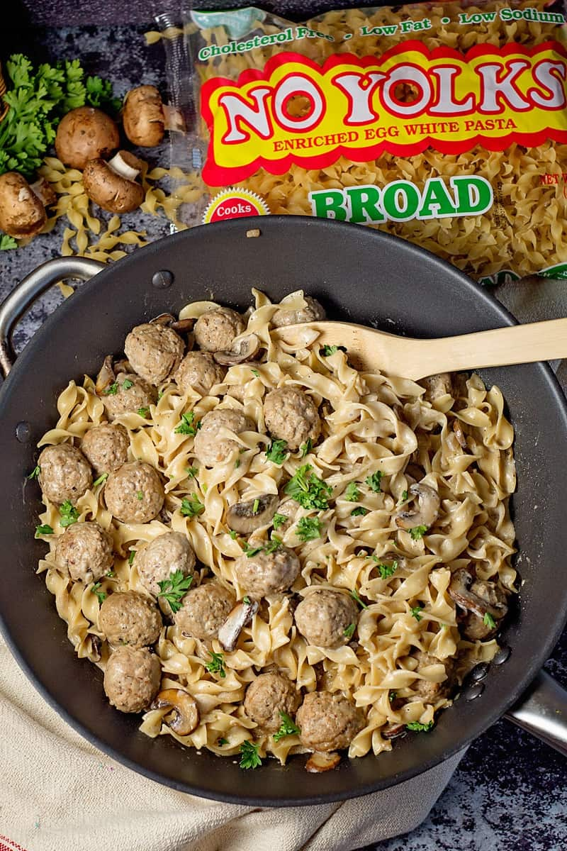 one pot meatball stroganoff
