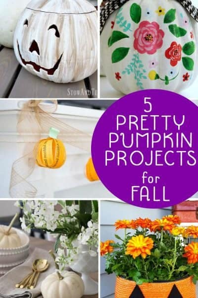 5 Pretty Pumpkin Projects for Fall + Inspiration Monday