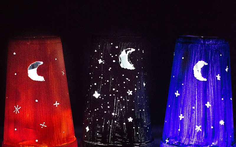 Kid Craft: Easy DIY Nightlights (from a foam cup)