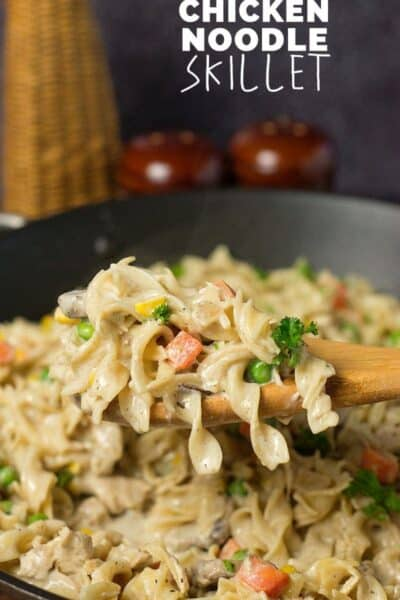 Creamy Chicken Noodle Skillet (+ a $100 Gift Card Giveaway)