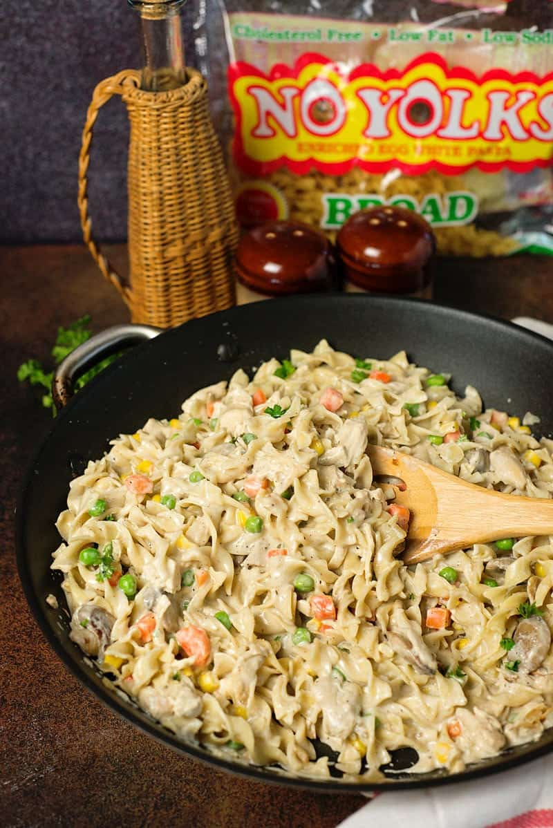 Creamy Chicken Noodle Skillet Recipe