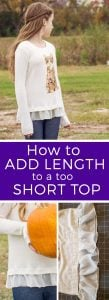 How to add length to a top, make a top longer