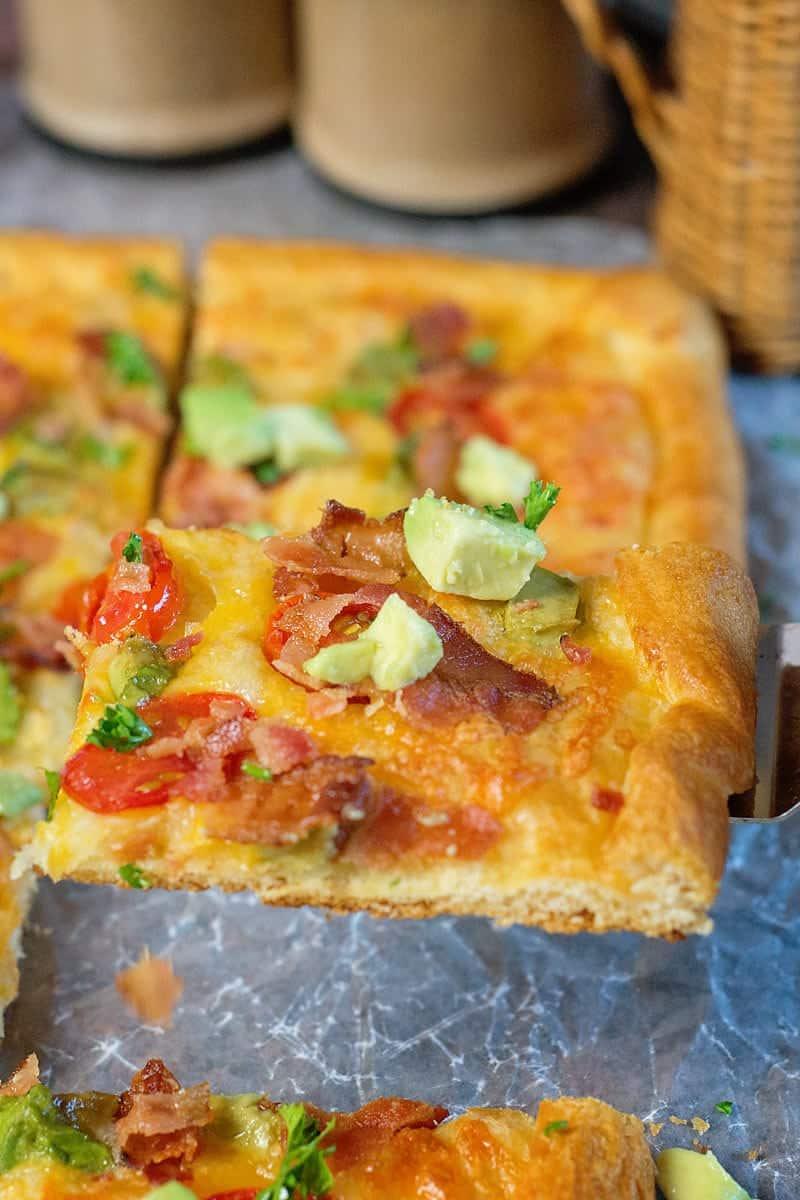Easy Tomato, Bacon and Avocado Galette, recipe using CrescentRolls, savory galette,